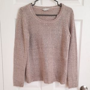 BOGO FREE BHS Rose gold sweater with sequins